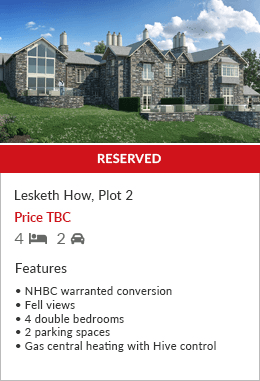 Lesketh How Plot 2 New Build Homes sold by Hackney & Leigh