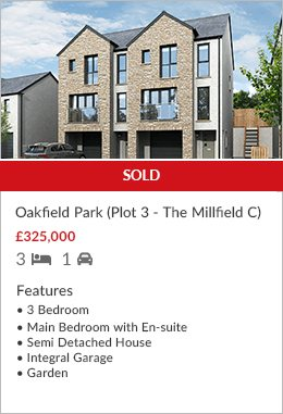 New Development Oakfield Park Plot 3 sold by Hackney & Leigh