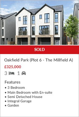 New Development Oakfield Park Plot 6 sold by Hackney & Leigh